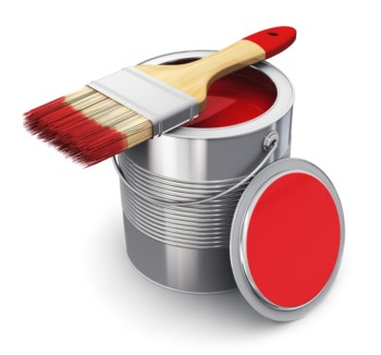 Red Paint Can